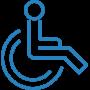 ikona obsługa osób z niepełnosprawnościami