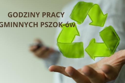 Na zdjęciu wyciągnięta dłoń i znak recyklingu - zielone strzałki tworzące trójkąt