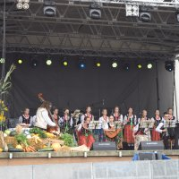 zdjęcie przedstawia występ zespołu ludowego Mokosza